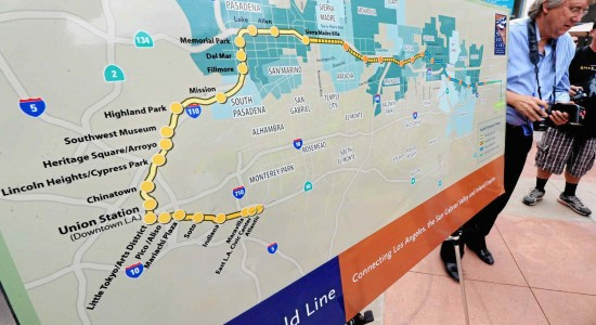 Mapping the Metro Gold Line. (Staff photo by Walt Mancini )
