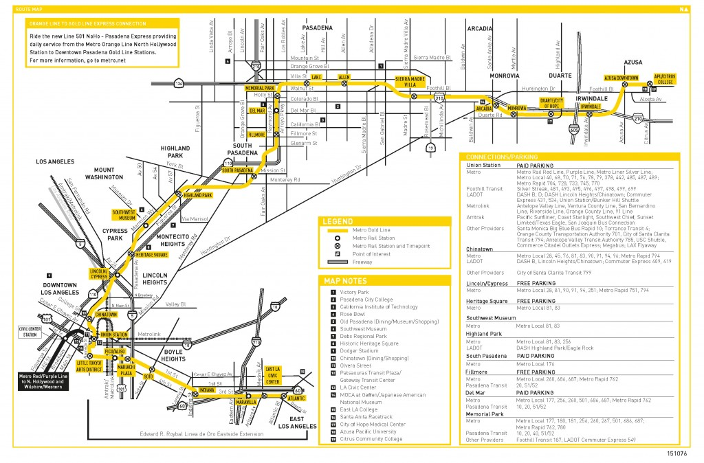 March 2016 Gold Line Inaugural Schedule_Page_1