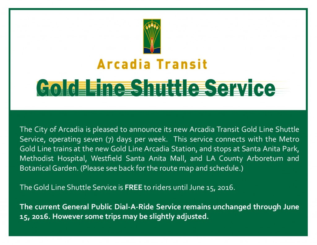 arcadia shuttle