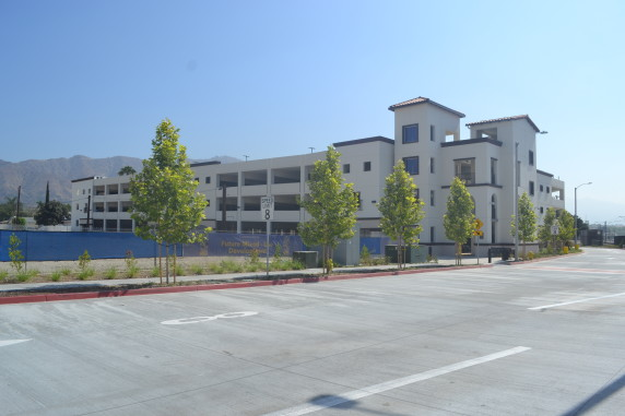 The Azusa downtown parking facility is located adjacent to a future mixed-use development. The city of Azusa plans to utilize the city-owned garage spots to complement the mixed-use development in the future.