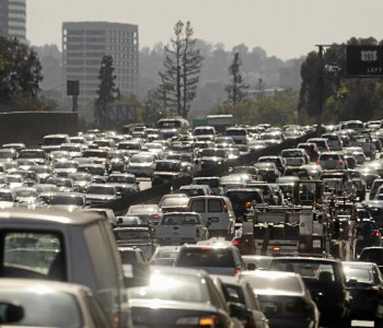 Traffic congestion costs Southland commuters time and money. It also impacts operations at businesses throughout the region. FILE (AP Photo/Jae C. Hong)