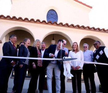 A dedication ceremony was held for the restoration of the Historic Santa Fe Depot and christening of the Mayor Bob Bartlett Memorial in Monrovia, Calif. on Sunday, Feb. 25, 2018. The Santa Fe was originally built in 1926.The memorial for Mayor Bartlett, who was Monrovia's first African American elected mayor, was commissioned by the city council. (Correspondent photo by Trevor Stamp)