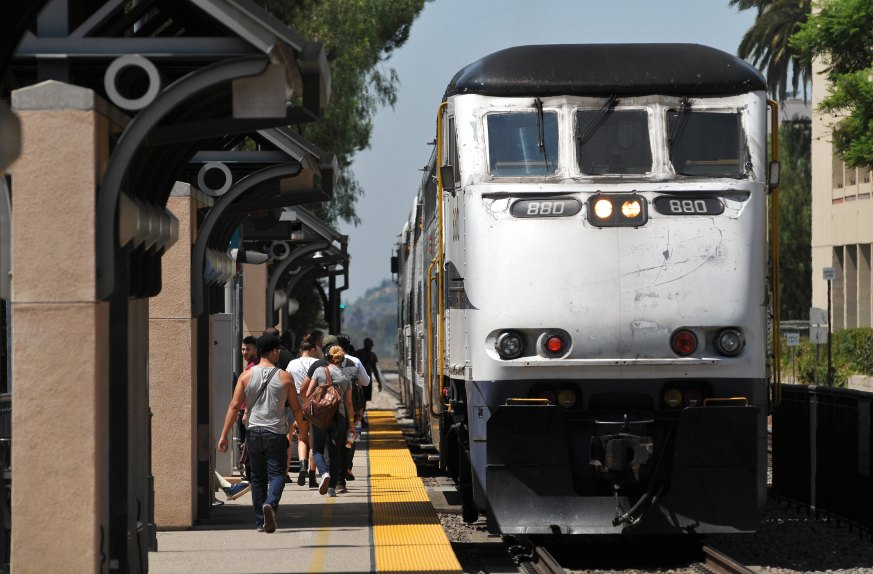 Plans to extend the Gold Line light-rail from Pomona through Claremont and to Montclair will cost $550 million. The big rail track like ones here at the Claremont Station will need to be moved for the 12.3-mile light-rail extension from Glendora to Montclair, Monday, Aug. 26, 2019. (Photo by John Valenzuela, Contributing Photographer)